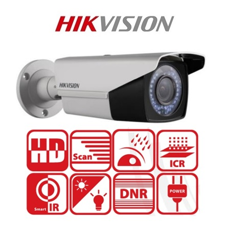 Hikvision 4in1 Analóg csőkamera - DS-2CE16D0T-VFIR3F (2MP,  2,8-12mm, kültéri, IR40m, ICR, IP66, DNR)
