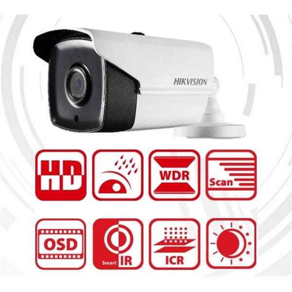 Hikvision DS-2CE16D7T-IT5 Bullet HD-TVI kamera, kültéri, 1080P, 8mm, EXIR80m, D&N(ICR), IP66, DNR, B