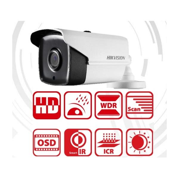 Hikvision DS-2CE16F7T-IT3 Bullet HD-TVI kamera, kültéri, 3MP, 3,6mm, EXIR40m, D&N(ICR), IP66, DNR, B