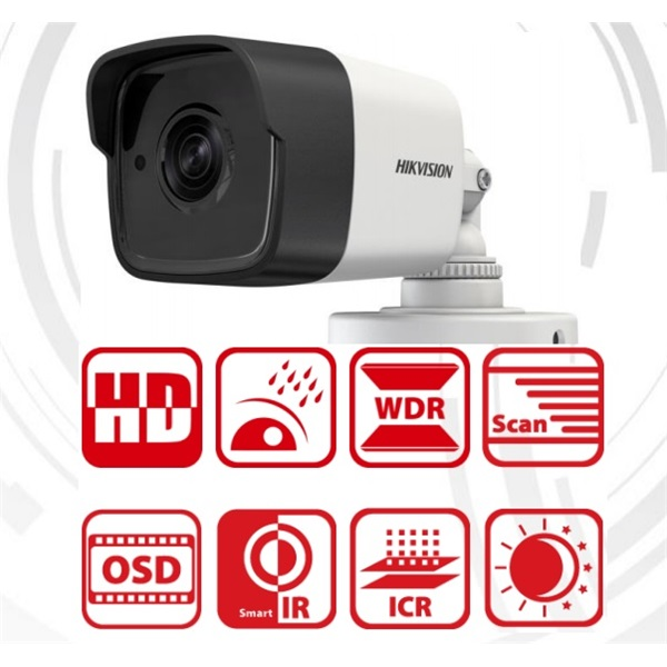 Hikvision DS-2CE16F7T-IT Bullet HD-TVI kamera, kültéri, 3MP, 3,6mm, EXIR20m, D&N(ICR), IP66, DNR, BL