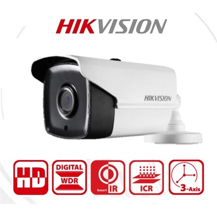 Hikvision 4in1 Analóg csőkamera - DS-2CE16H0T-IT3F (5MP, 2,8mm, kültéri, EXIR40M, ICR, IP67, DWDR, BLC)