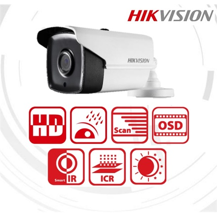 Hikvision DS-2CE16H1T-IT5 Bullet HD-TVI kamera, kültéri, 5MP, 6mm, EXIR80m, D&N(ICR), IP67, DNR, BLC