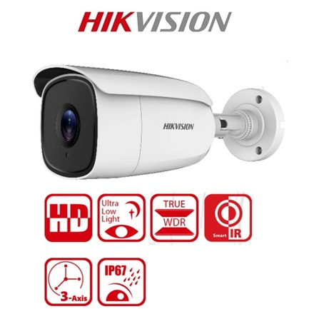 Hikvision Analóg csőkamera - DS-2CE18U8T-IT3 (8MP, 2,8mm, kültéri, EXIR60m, ICR, IP67, 3DNR, BLC, WDR)