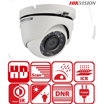 Hikvision 4in1 Analóg turretkamera - DS-2CE56D0T-IRMF (2MP, 2,8mm, kültéri, IR20m, D&N(ICR), IP66, DNR)
