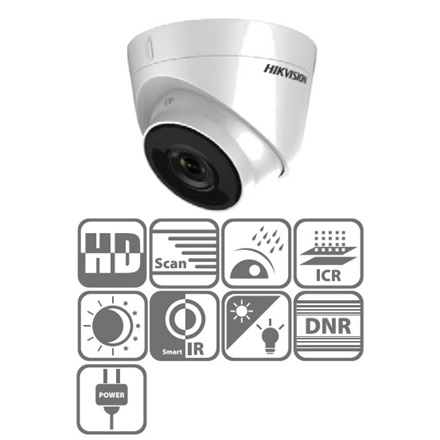 Hikvision DS-2CE56D0T-IT3 Dome HD-TVI kamera, kültéri, 1080P, 3,6mm, EXIR40m, IP66, DNR