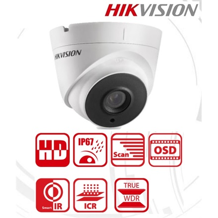 Hikvision Analóg turretkamera - DS-2CE56D8T-IT3 (2MP, 2,8mm, kültéri, EXIR40m, ICR, IP67, 3DNR, BLC, WDR)