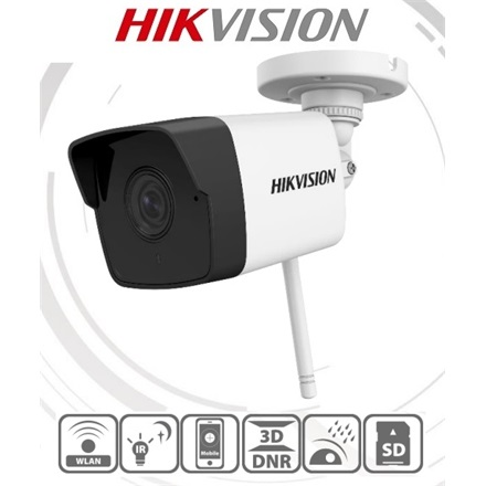 Hikvision IP csőkamera - DS-2CV1021G0-IDW1 (2MP, 2,8mm, kültéri, H264, IP66, IR30m, ICR, DWDR, SD,audio, wifi)