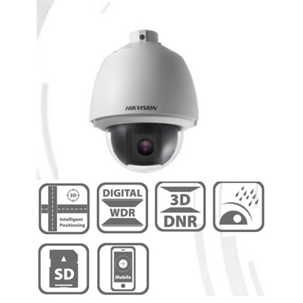Hikvision DS-2DE5230W-AE IP Speed Dome kamera, kültéri, 2MP, 4,3-129mm, D&N(ICR), BLC, DWDR, IP66, Audio, I/O, SD, PoE
