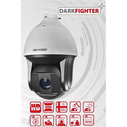 Hikvision DS-2DF8223I-AEL IP Speed Dome kamera, kültéri, 2MP, 5,9-135,7mm, D&N(ICR), IR200m, BLC, WDR, IP66, Audio, IK10