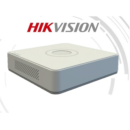 Hikvision DVR rögzítő - DS-7104HQHI-K1 (4 port, 3MP, 2MP/60fps, H265+, 1x Sata, Audio, 1x IP kamera)