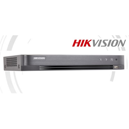 Hikvision DVR rögzítő - DS-7204HUHI-K1 (4 port, 5MP/48fps, 3MP/72fps, 2MP/100fps, H265+, 1x Sata, Audio, I/O)