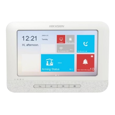 "Hikvision DS-KH6310-W IP video kaputelefon beltéri egység, 7"" touch screen, 8/2 I/O, wifi"