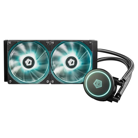 ID-Cooling CPU Water Cooler - AURAFLOW X 240 (18-35,2dB; max. 126,57 m3/h; 2x12cm)