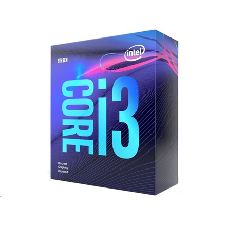 Intel Processzor - Core i3-9100F (3600Mhz 6MBL3 Cache 14nm 65W skt1151 Coffee Lake) BOX No VGA