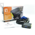 LevelOne KVM-0223 KVM switch (2 port, USB, audio, kábelszettel)