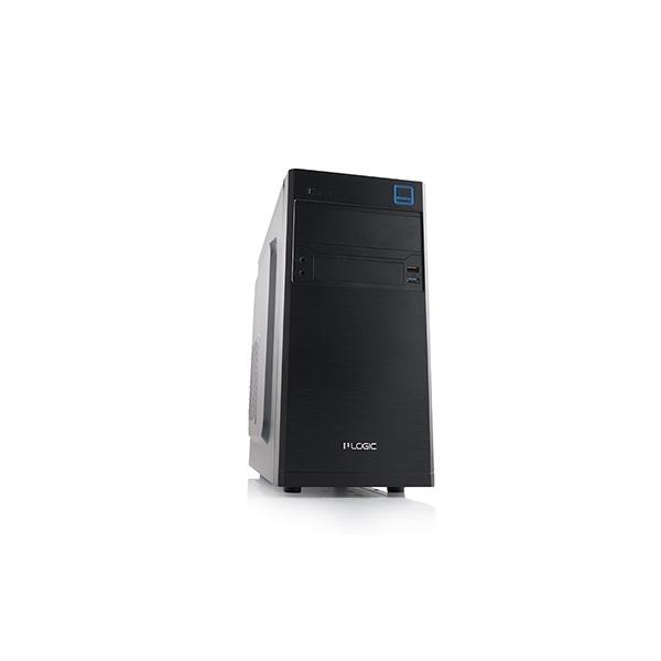Logic Számítógépház - M4 (mATX; ITX; 1xUSB3.0 + 1xUSB2.0, HD Audio I/O; fekete)