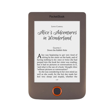 "POCKETBOOK e-Reader - PB615 BASIC LUX Barna (6"" E-Ink Carta, Cpu: 1GHz, 256MB, 8GB, 1300mAh, wifi, mUSB, mSD olvasó)"
