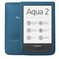 "POCKETBOOK e-Reader - PB641 AQUA Ciánkék (6"" E-Ink, Multi touch, Cpu: 1GHz, 256MB, 8GB, 1500mAh, wifi, mUSB, vízálló)"