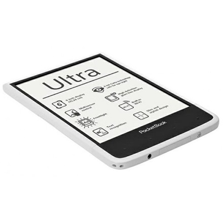 "POCKETBOOK PB650 ULTRA Fehér (6"" E-Ink, Multi touch, Cpu: 1GHz, 512MB, 4GB, 1500mAh, wifi, mUSB, mSD, 5MP, kép megvilág)"