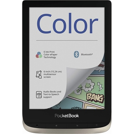 "POCKETBOOK e-Reader - PB633 COLOR (6""E Ink Kaleido, Cpu: 1GHz,512MB,16GB,1500mAh, BT,mSD, kép megvilágítás)"