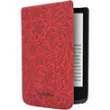 "POCKETBOOK e-book tok -  PocketBook Shell 6"" (Touch HD 3, Touch Lux 4, Basic Lux 2) Piros, virágmintával"