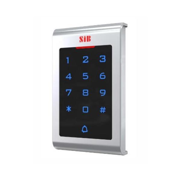 SIB T10EM beléptető rendszer, RFID, touch keypad, IP65, EM125KHz,  WG26, 2000 kártya/kód, vandálbizt