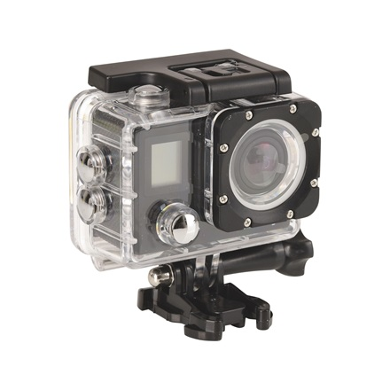 Sandberg Akciókamera - ActionCam 4K Waterproof+WiFi (16Mpixel szenzor; 4K-30fps video; 170 HD° Wide; + rögzítő csomag)