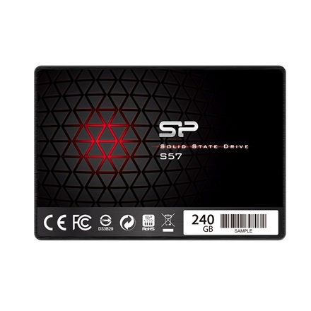"Silicon Power S57 240GB 2,5"" (3D NAND TLC) SSD (r:535 MB/s; w:410 MB/s)"