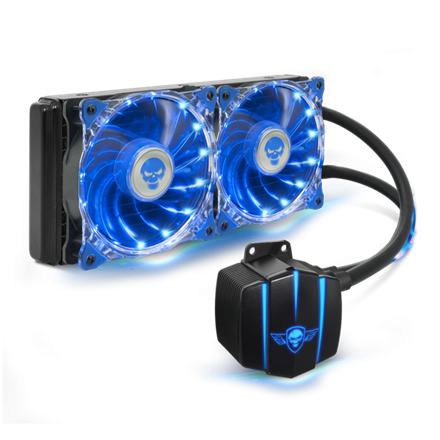 Spirit of Gamer CPU Water Cooler - Liquid Force 240 (25dB; 2800 RPM; 2x12cm)