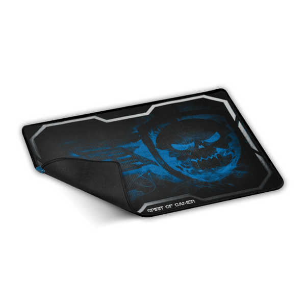 Spirit of Gamer Egérpad - Smokey Skull Blue (430 x 320 x 3mm; kék)