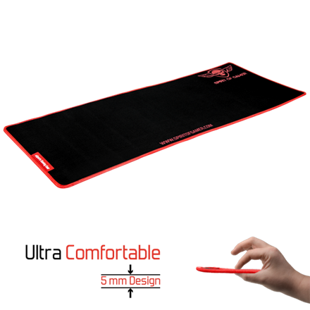 Spirit of Gamer Egérpad - Victory Red XXL (780 x 300 x 3mm; fekete-vörös)