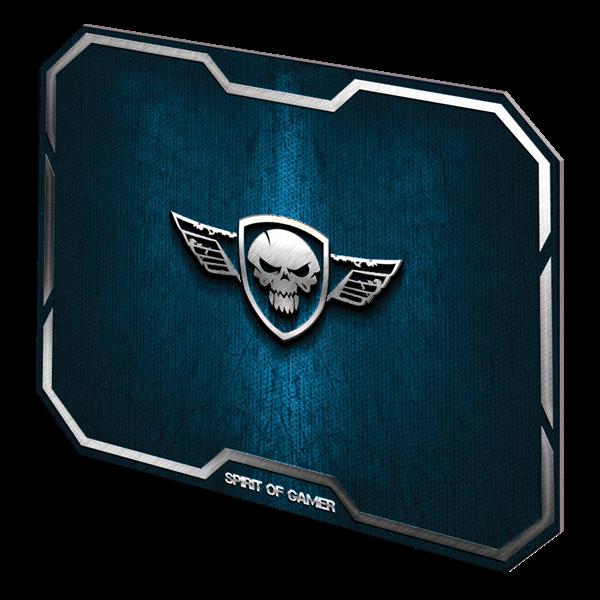 Spirit of Gamer Egérpad - Winged Skull Blue (295 x 235 x 3mm; kék)
