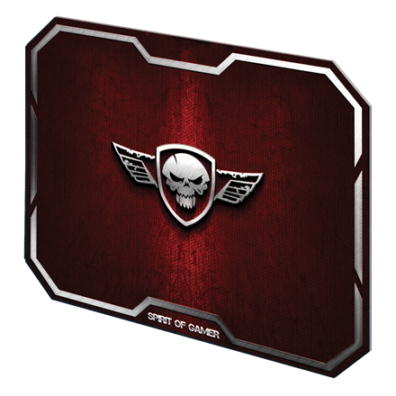 Spirit of Gamer Egérpad - WINGED SKULL Red (295 x 235 x 3mm; piros)