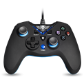Spirit of Gamer Gamepad - XGP WIRED Blue (USB, 1,8m kábel, Vibration, PC és PS3 kompatibilis, fekete-kék)