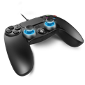 Spirit of Gamer Gamepad - XGP WIRED PS4 (USB, 1,9m kábel, Vibration, PC és PS4 kompatibilis, fekete-kék)