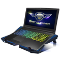 "Spirit of Gamer Notebook Hűtőpad 17""-ig - AIRBLADE 500 BLUE (25dB; max. 127,42 m3/h; 4x12cm, LED, 2xUSB2.0)"