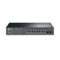 TP-Link Switch Smart PoE- T1500G-10MPS JetStream™ (L2; 8port 1000Mbps + 2 port SFP; 8 PoE+ port, 116W)