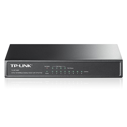 TP-Link Switch  PoE - TL-SF1008P (8 port, 100Mbps; 8/4 PoE port, 53W)