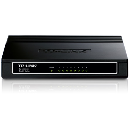 TP-Link TL-SG1008D Switch (10/100/1000Mbps, 8 port)