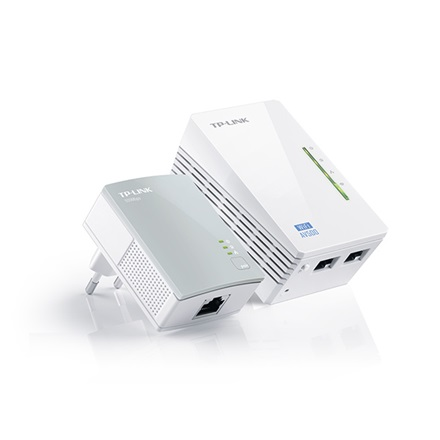 TP-Link Powerline WiFi Extender Kit N - TL-WPA4220 (500Mbps powerline, 300Mbps 2,4GHz; 128-bit AES; Max300m)