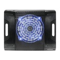 "Thermaltake CLN0015 Massive23 LX 10""-17"" notebook fekete 23cm KÉK LED fan aluminium hűtő"