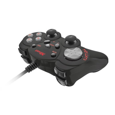 Trust Gamepad - GXT24 (c.sz:17416; Playstation design; fekete)