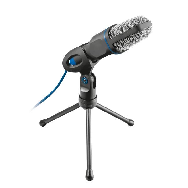 Trust Mikrofon - Mico (c.sz:20378; Studió design; USB csatlakozó; 180cm kábel; állvány; fekete)