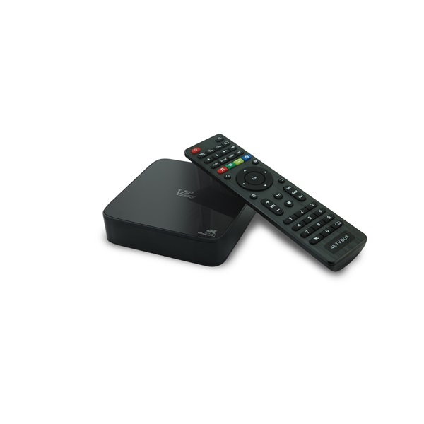 VenzTech V10 - Médialejátszó (4K, QC 2.0Ghz, 1GB, 8GB, HDMI 2.0, 3xUSB, RJ45, Wifi, H.265, Android 5