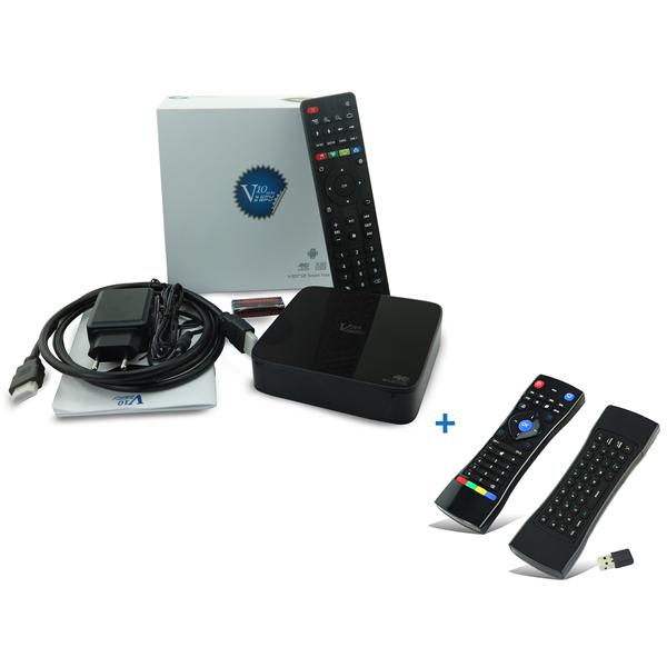 VenzTech V10 Combi - Médialejátszó (4K, QC 2.0Ghz, 1GB, 8GB, HDMI 2.0, 3xUSB, RJ45, Wifi, H.265, And