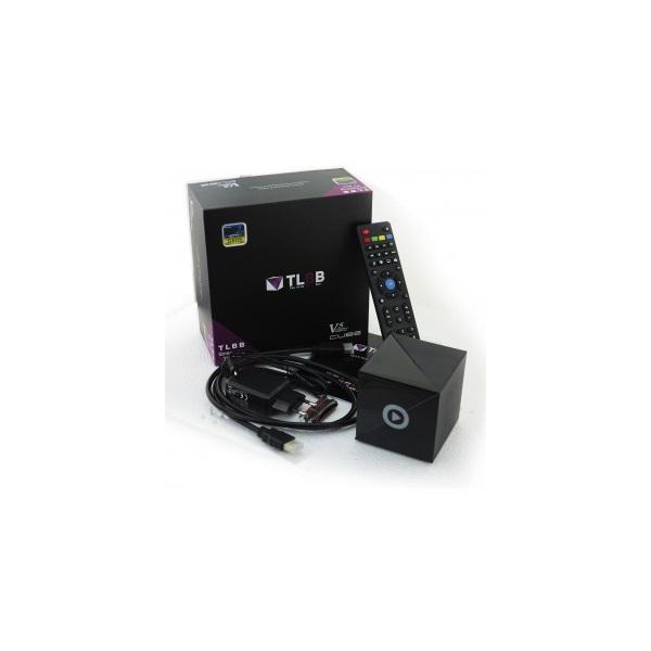 Venz V5 Cube - Médialejátszó (FullHD, QC 1.5Ghz, 1GB, 8GB, HDMI 1,4b, 3xUSB, RJ45, Wifi, H.265, Libr