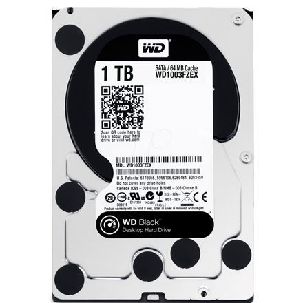 "Western Digital WD1003FZEX 1TB 3,5"" Desktop 7200rpm, 64 MB puffer, SATA3 - Black"